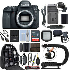 Canon EOS 6D Mark II 26.2MP Digital SLR Camera Body + 64GB Pro Video Kit