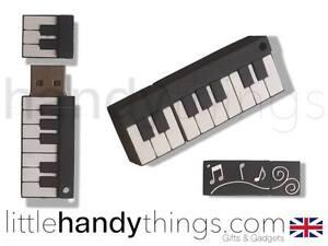 Music Piano Keyboard Fun Novelty 8GB/16GB USB Flash Drive Pen Memory Stick Gift