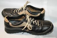 Born Men's Brown Inlayed Leather Oxford Casual Lace Up Shoes US 8.5 EU 43
