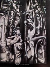 H R Giger Poster A Crowley The Beast 666 Offset Lithograph  Unsigned 14x11