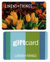 Linens n Things Gift Card - LOT of 2 - Flowers, Stripes - Older - No Value