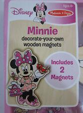 Disney Minnie Decorate Your Own Wooden Magnets Melissa & Doug Craft Glitter Glue