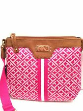 TOMMY HILFIGER XBody Messenger Bag *Pink Multi Shoulder Purse New