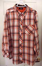 Mecca Apparel Western Style Shirt-XL, handsome orange plaid