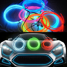5m Ice Blue EL Cold Light Car Dash Panel Strip Neon Lamp Mood Creater Decor- 12V