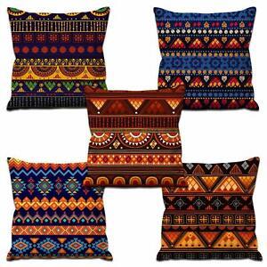 Colorful  Pillow Case Cushion Cover Pillowcase Sofa Car Dec Home Set of 5