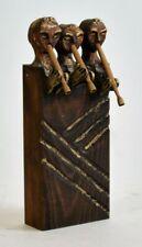 Vernacular Art Wood Carving Mid Century Modern Gothic Folk Statue VTG Musicians
