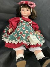 """Marie Osmond Porcelain Doll - 22"""" - 'I Love You Beary Much' From 2000"""