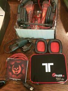 MadCatz Tritton Gears Of War 3 Dolby 7.1 Surround Sound Gaming Headset 360 RARE