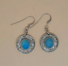 Sterling Silver and Turquoise Gemstone Earrings