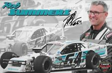 """SIGNED 2018 ROB SUMMERS """"FAST TRACK ELECTRIC"""" #64 NASCAR OW MODIFIED POSTCARD"""