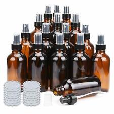 Glass Bottle Amber Small Glass Spray Bottle Aromatherapy 4 oz 16 bottles Ulg