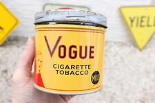 Vintage Vogue Cigarette TOBACCO TIN Can Advertising