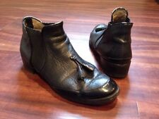 PROENZA SCHOULER Black Leather Gored Ankle Boot Size 40 US 10