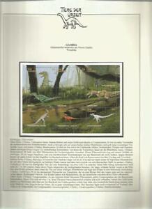 81542/ Dinosaurier Fauna Tiere ** MNH OHNE VORDRUCK GAMBIA