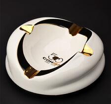 COHIBA 50th Anniversary Ceramic Round Cigar Ashtray Elegant and Modern Design