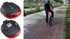 Ammaco XC-121 Lazer Beam 3 LED Rear Cycling Waterproof Safety Strips Bike Light