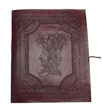Wisdom Tree Family Photo Album XXL Vintage Retro Leather Black Handmade India