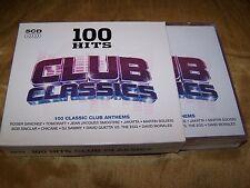 100 HITS CLUB CLASSICS 5 CD BOX SET SANCHEZ GUETTA ATB SLIM CHICANE MILES SHAMEN
