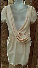 ASOS BNWT Cream Scoop Back Short Sleeve Dress Size 12