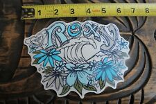 ROXY Surfboards Wave Girl Flower Aloha Hawaii Quiksilver Vintage Surfing STICKER