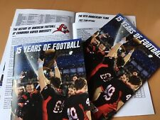 15 Years Of Football. American Football at Edinburgh Napier. Magazine