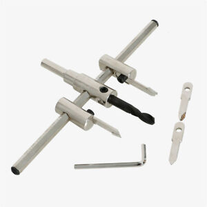 3 - 200mm Adjustable Circle Hole Cutter Saw Metal Wood Drill Bit DIY Tool Set UK