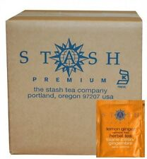 Stash Tea Lemon Ginger Herbal Tea, 100 Count Box of Tea Bags in Foil, New
