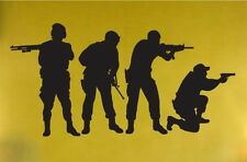 Vinyl Wall Decal Sticker Military Swat Team Army Men
