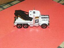 Matchbox MB-61 Peterbilt Wreck Truck (Police M9 Dail 911) 1983 NICE