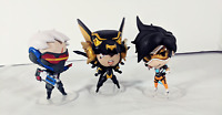 Overwatch Cute But Deadly 3 Figure Lot - Pharah, Tracer, Soldier 76