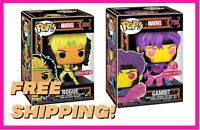 Funko POP! Marvel: Black Light 798 800 Gambit & Rogue Target Exclusive FREE SHIP