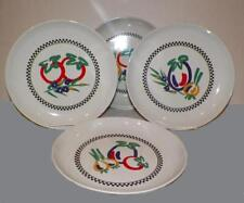 "Set of 4~11""Dinner Plates~SIGNATURE~RIVIERA~VAN BEERS Oven Stoneware Vegatables"