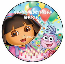 Dora the Explorer edible image rice paper birthday party cake topper 19cm