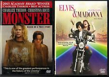 Monster (DVD, 2004) & Elvis & Madonna (DVD, 2012) - 2 Lesbian Relationship DVDs