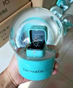 Tiffany Luxury Snow Globe With Ring Box Inside | Special Collectible VIP Gift