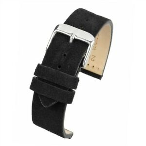 VintageTime Watch Straps - Premium Suede Calf Leather Bands   18mm, 20mm, 22mm
