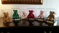 RARE Retired Ty Beanie Baby Babies Collection Bears Valentino Curly Erin & Peace