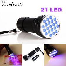 HOT Mini UV Ultra Violet 21 LED Flashlight UV light Aluminum Torch Light Lamp