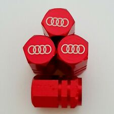 AUDI Laser Wheel Valve Dust caps all models Red S LINE RS S3 S5 RS3 RS4 RS5 RS6
