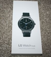 NEW LG Watch Style W270 45.7mm Titanium Stainless Steel Black Classic Buckle
