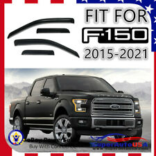 FIT For 2015-2021 Ford F-150 Super Crew Window Visor Vent Rain Deflector