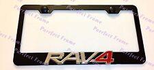 RAV4 3D RAV 4 Emblem Toyota Black Stainless Steel License Plate Frame Rust Free