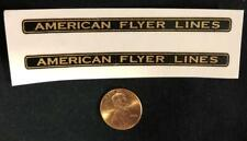 "Two American Flyer 3 1/2"" Pre-War PRE-TRIMMED Waterslide Decals"