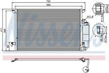 A/C Condenser-GAS, Auto Trans, Turbo Front Nissens 94675