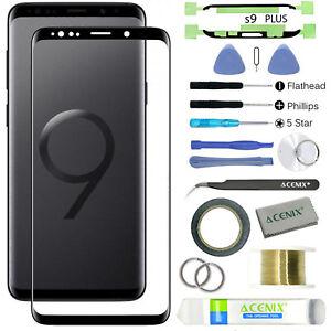 Samsung Galaxy S9 Plus Front Glass Screen Lens Replacement Repair Kit BLACK