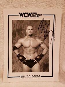 BEAUTIFUL Bill Goldberg 1997 WCW Autographed 8x10 B&W Photo, NICE!!