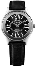 Jowissa Siena Swiss Made Black Dial Black Leather Women's Watch J4.300.L