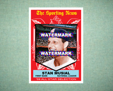 Stan Musial All Star St Louis Cardinals 1959 Style Custom Art Card