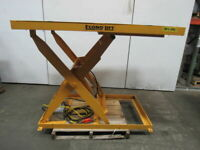 "Econo Lift 3SL42 2000Lb. Hydraulic Scissor Lift Table 66""x48"" Top 8""-52""Ht 3Ph"